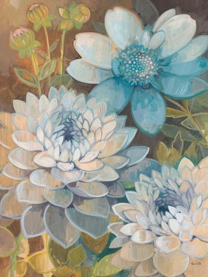 Pretty Blue Dahlias 2-Vera Hills-Art Print