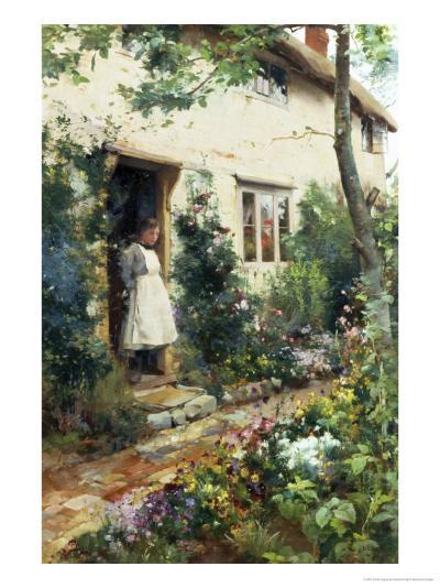 Pretty Cottage Garden-Alfred Augustus Glendenning-Giclee Print