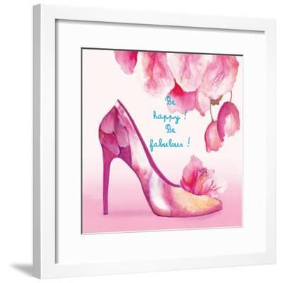 Pretty Petal Shoe-Colleen Sarah-Framed Premium Giclee Print