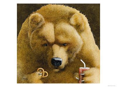 Pretzels & Soda & Bear-Will Bullas-Premium Giclee Print