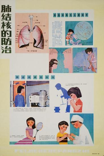 Preventing Tuberculosis Is Part of Having Good Habits--Art Print