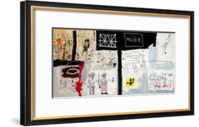 Price of Gasoline in the Third World, 1982-Jean-Michel Basquiat-Framed Giclee Print