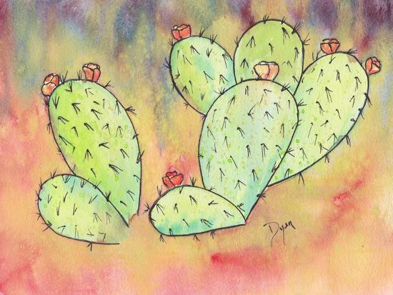Prickly Pear Cactus-Beverly Dyer-Art Print