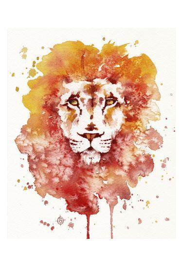 Pride (Watercolor Lion)-Sillier than Sally-Art Print