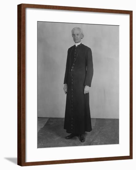 Priest in Cassock--Framed Photo