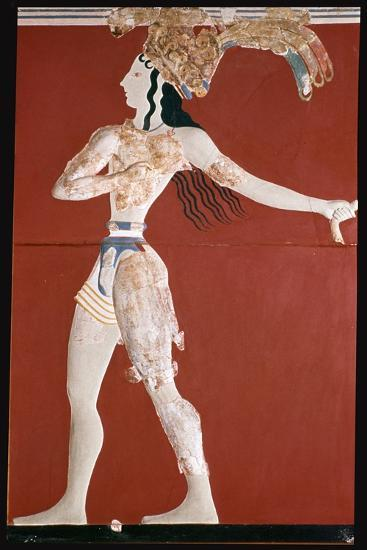 Priest-King' fresco from Knossos. Artist: Unknown-Unknown-Giclee Print