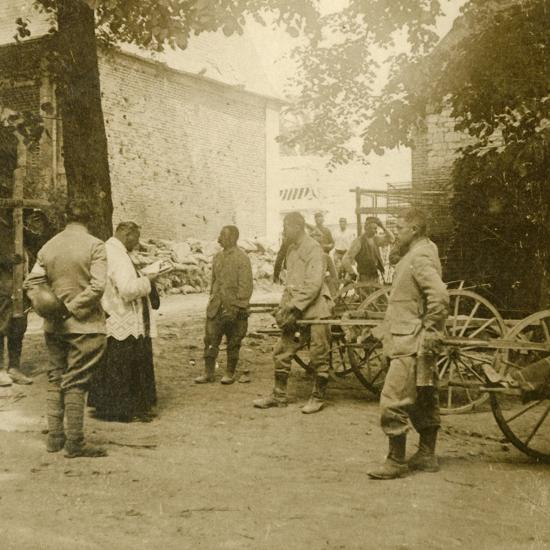 Priest saying mass in the open air, c1914-c1918-Unknown-Photographic Print