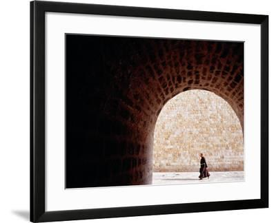 Priest Walking on Placa in Old Town, Dubrovnik, Croatia-Richard I'Anson-Framed Photographic Print