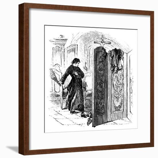 Priest Whipping a Penitent with a Birch, C1876--Framed Giclee Print