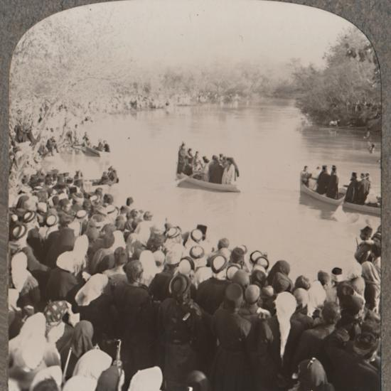 'Priests blessing the Jordan', c1900-Unknown-Photographic Print