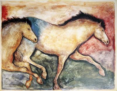 Primal Skin Crossing II-Carol Grigg-Art Print