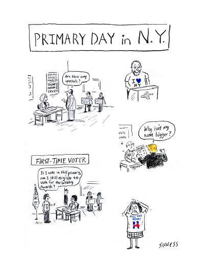 Primary Day in N.Y. - Cartoon-David Sipress-Premium Giclee Print