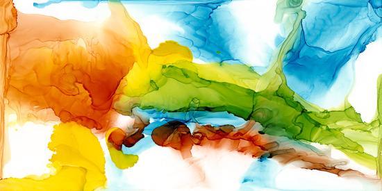Primary Plume II-Jennifer Goldberger-Art Print