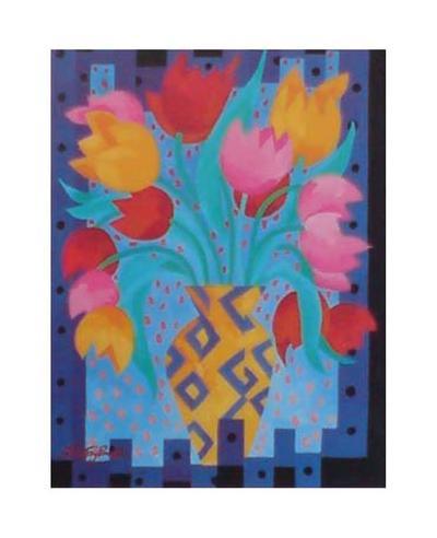 Primary Tulips-Fay Powell-Art Print
