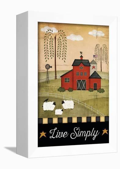 Primitive Live Simply-Jennifer Pugh-Framed Stretched Canvas