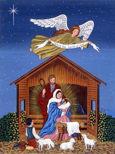 Primitive Nativity-Sheila Lee-Giclee Print