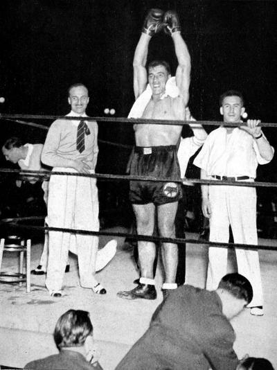 Primo Carnera Celebrates Victory, New York, 1933--Photographic Print