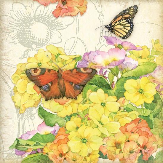 Primrose & Butterflies-Julie Paton-Art Print