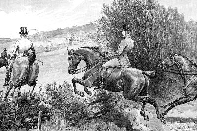 Prince Albert Hunting Near Belvoir Castle, Leicestershire, C1840s--Giclee Print