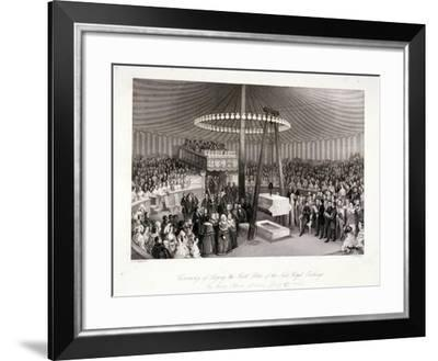 Prince Albert Laying the First Stone at the Royal Exchange, London, 1842-Harlen Melville-Framed Giclee Print
