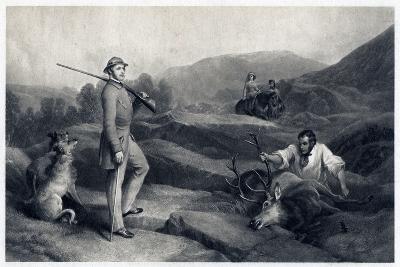Prince Albert Stag Hunting, Mid-19th Century-Edwin Henry Landseer-Giclee Print