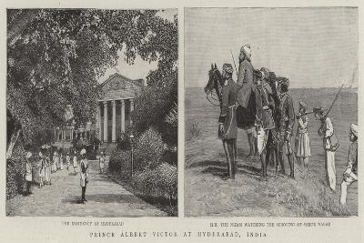 Prince Albert Victor at Hyderabad, India--Giclee Print