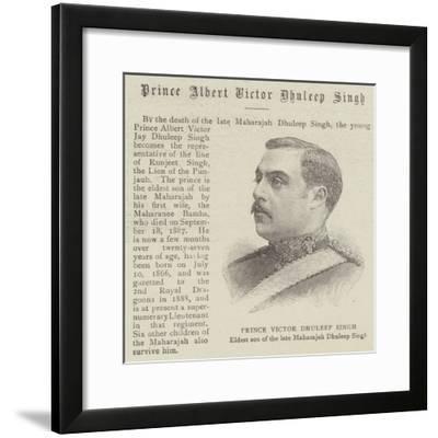 Prince Albert Victor Dhuleep Singh--Framed Giclee Print