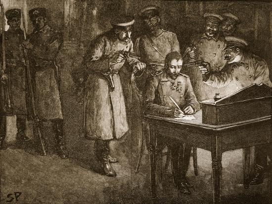 Prince Alexander of Bulgaria Signing His Abdication--Giclee Print