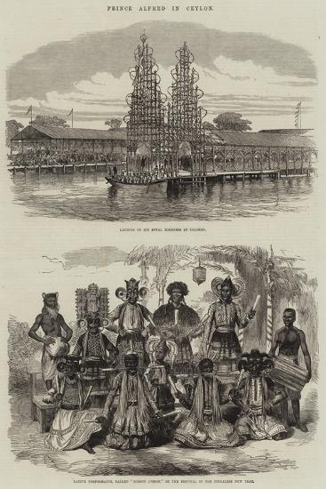 Prince Alfred in Ceylon--Giclee Print