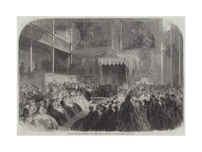 Prince Alfred Opening the Industrial Museum at Edinburgh--Giclee Print