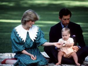 Prince and Princess of Wales with William in New Zealand, April 1983