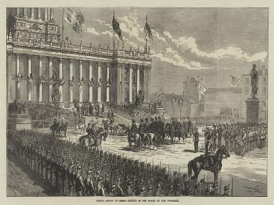 Prince Arthur at Leeds, Arrival of the Prince at the Townhall--Giclee Print