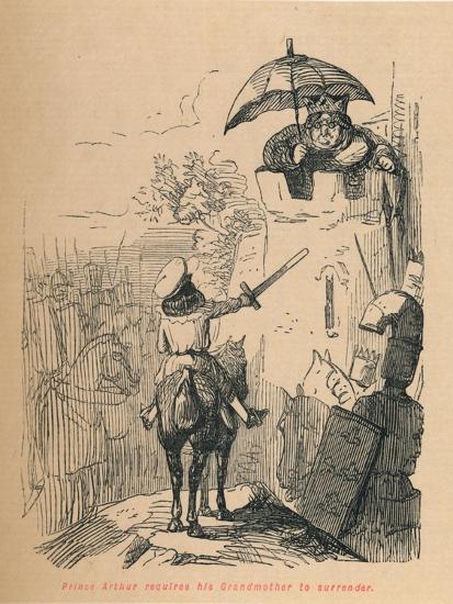 'Prince Arthur requires his Grandmother to surrender', c1860, (c1860)-John Leech-Giclee Print