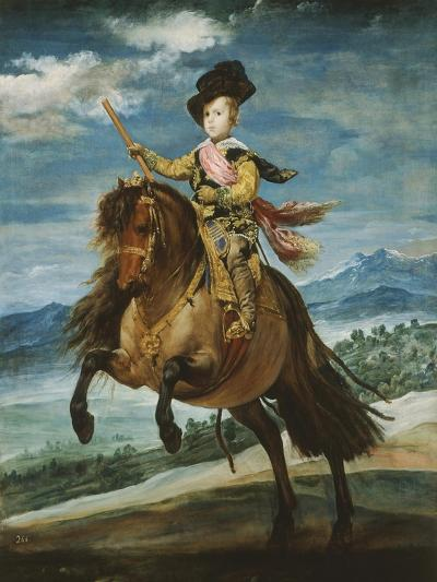 Prince Baltasar Carlos, 1629-1646, Equestrian Portrait Set in the Sierra Madrileña, 1635-6-Diego Velazquez-Giclee Print