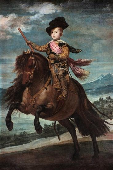 Prince Baltasar Carlos on Horseback, 1635-36-Diego Velazquez-Giclee Print