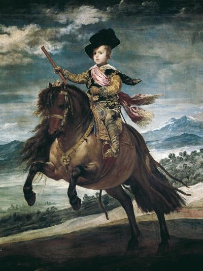 Prince Balthasar Carlos on Horseback-Diego Velazquez-Art Print