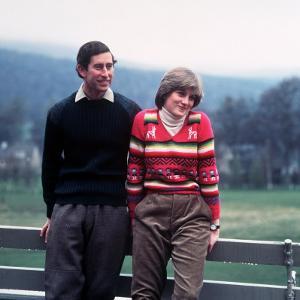 Prince Charles and Lady Diana Spencer at Balmoral May 1981