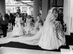 Prince Charles and Princess Diana After Their Wedding at St Pauls Cathedral