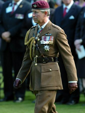 Prince Charles During Ceremony at Oosterbeek Cemetary, Holland