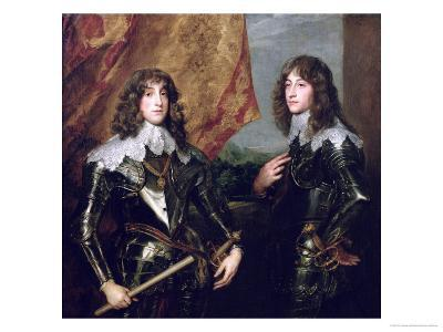 Prince Charles Louis Elector Palatine and His Brother, Prince Rupert of the Palatinate, 1637-Sir Anthony Van Dyck-Giclee Print
