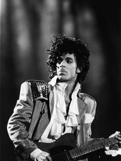 Prince, Concert Performance, 1984 Photo-Vandell Cobb-Photographic Print