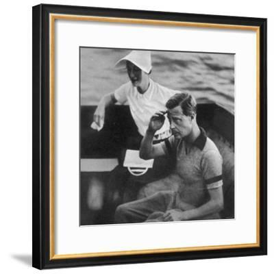Prince Edward and Wallis Warfield Simpson During a Royal Cruise, 1936--Framed Photographic Print