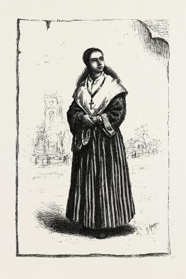 Prince Edward Island, Acadian Girl, Canada, Nineteenth Century--Giclee Print