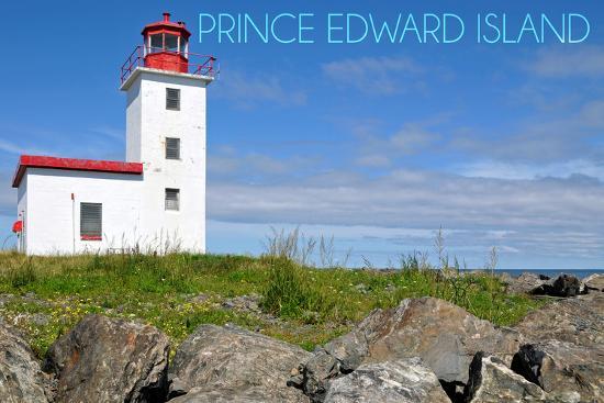 Prince Edward Island - Caribou Lighthouse-Lantern Press-Wall Mural