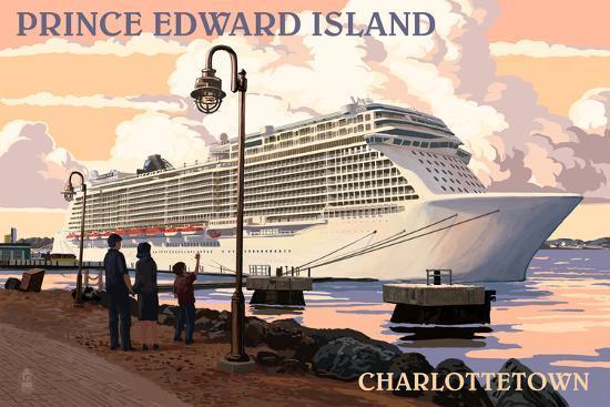 Prince Edward Island - Charlottetown Cruise Ship-Lantern Press-Wall Mural