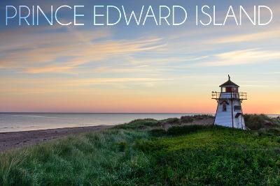 Prince Edward Island - Covehead Lighthouse and Sunset-Lantern Press-Wall Mural