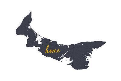 Prince Edward Island - Home - Gray on White-Lantern Press-Art Print