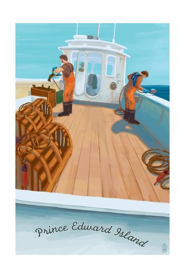 Prince Edward Island - Lobster Boat-Lantern Press-Art Print