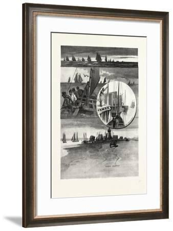 Prince Edward Island, Mackerel Fishing, Canada, Nineteenth Century--Framed Giclee Print