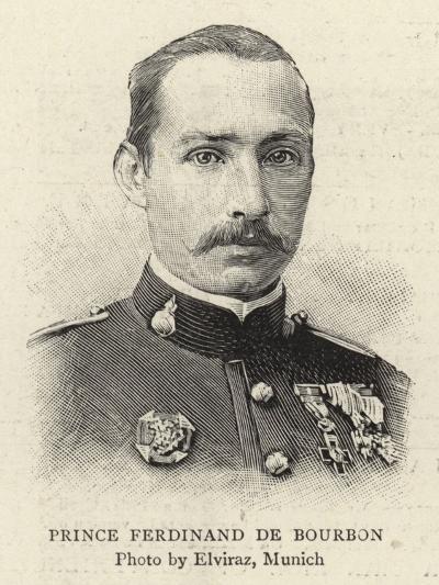 Prince Ferdinand De Bourbon--Giclee Print